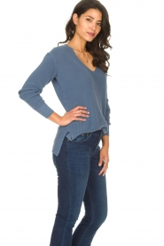 Blaumax |  Cotton sweater Ann | blue  | Picture 5