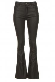 Dante 6 | Flared broek met coating Billie | zwart  | Afbeelding 1