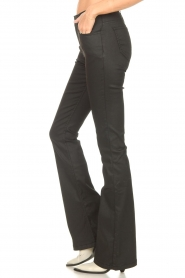 Dante 6 |  Flared pants with coating Billie | black  | Picture 5