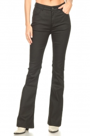 Dante 6 |  Flared pants with coating Billie | black  | Picture 4