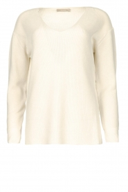 Blaumax |  Cotton sweater Ann | white