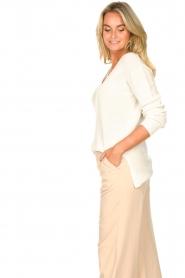 Blaumax |  Cotton sweater Ann | white  | Picture 6
