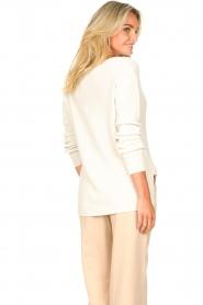 Blaumax |  Cotton sweater Ann | white  | Picture 7