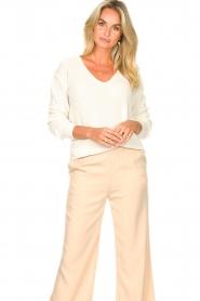 Blaumax |  Cotton sweater Ann | white  | Picture 2