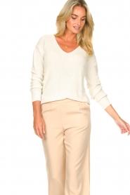 Blaumax |  Cotton sweater Ann | white  | Picture 4