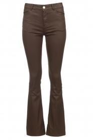 Dante 6 |  Flared pants with coating Billie | beige  | Picture 1