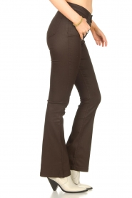 Dante 6 |  Flared pants with coating Billie | beige  | Picture 6