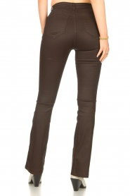 Dante 6 |  Flared pants with coating Billie | beige  | Picture 7