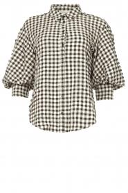Copenhagen Muse    Checkered blouse Nil   black and white    Picture 1