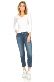 7 For All Mankind | Skinny enkel jeans Roxanne | blauw  | Afbeelding 3