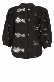 Copenhagen Muse |  Cotton broderie blouse Dodi | black  | Picture 1