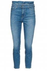 7 For All Mankind |  Slim paperbag jeans Myl | blue  | Picture 1