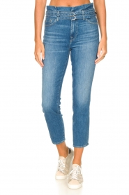 7 For All Mankind |  Slim paperbag jeans Myl | blue  | Picture 6