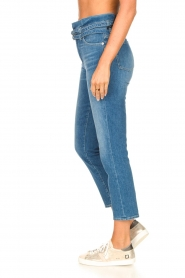7 For All Mankind |  Slim paperbag jeans Myl | blue  | Picture 9