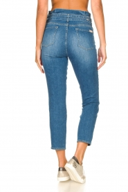 7 For All Mankind |  Slim paperbag jeans Myl | blue  | Picture 10