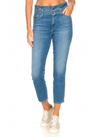 7 For All Mankind |  Slim paperbag jeans Myl | blue  | Picture 7