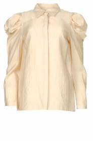 Copenhagen Muse    Blouse with puff sleeves Crop   natural    Picture 1