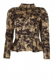 Copenhagen Muse |  Top with print Marry | black  | Picture 1