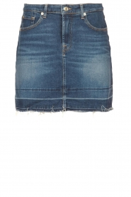7 For All Mankind |  Denim skirt Janey | blauw  | Picture 1