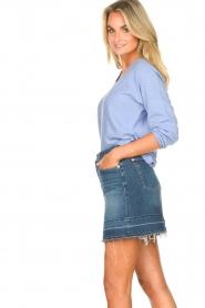 7 For All Mankind |  Denim skirt Janey | blauw  | Picture 5