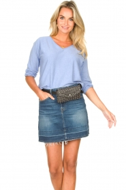 7 For All Mankind |  Denim skirt Janey | blauw  | Picture 2