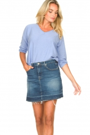 7 For All Mankind |  Denim skirt Janey | blauw  | Picture 4