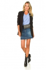 7 For All Mankind |  Denim skirt Janey | blauw  | Picture 3