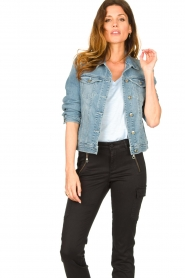 7 For All Mankind |  Denim jacket Josie | blue  | Picture 4