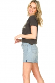 7 For All Mankind |  Denim boy shorts Jasmine | light blue  | Picture 6