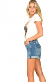 7 For All Mankind | Boyshort Jasmine | blauw   | Afbeelding 7
