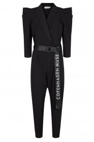 Copenhagen Muse |  Jumpsuit with waistbelt Bliz | black  | Picture 1
