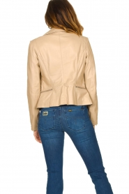 STUDIO AR BY ARMA |  Leather jacket with zip details Bebe | beige  | Picture 7