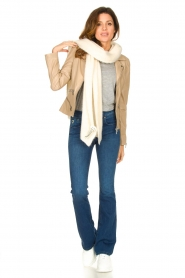 STUDIO AR BY ARMA |  Leather jacket with zip details Bebe | beige  | Picture 3