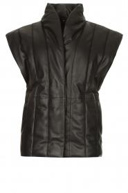 Copenhagen Muse |  Leather bodywarmer Royal | black  | Picture 1