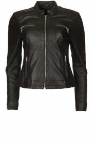 STUDIO AR BY ARMA |  Leather biker jacket Tuya | black  | Picture 1