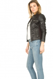 STUDIO AR BY ARMA |  Leather biker jacket Tuya | black  | Picture 6