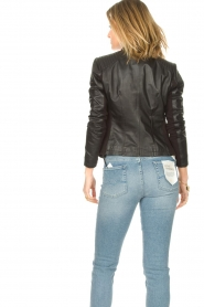 STUDIO AR BY ARMA |  Leather biker jacket Tuya | black  | Picture 7