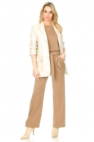 STUDIO AR BY ARMA |  Leather long blazer Luna | natural  | Picture 4