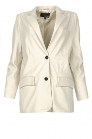 STUDIO AR BY ARMA |  Leather long blazer Luna | natural  | Picture 1