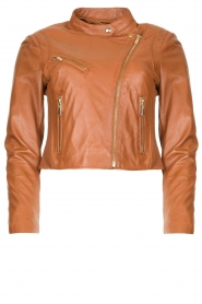 STUDIO AR BY ARMA |  Short leather jacket Gaga | camel