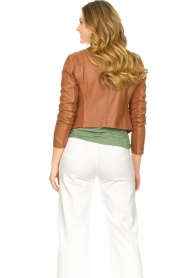 STUDIO AR BY ARMA |  Short leather jacket Gaga | camel  | Picture 7