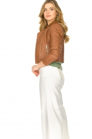 STUDIO AR BY ARMA |  Short leather jacket Gaga | camel  | Picture 6