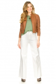 STUDIO AR BY ARMA |  Short leather jacket Gaga | camel  | Picture 3