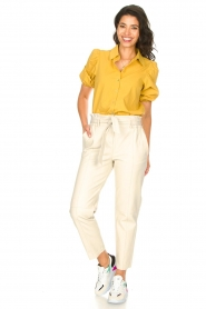 STUDIO AR BY ARMA |  Leather paperbag pants Clarie | natural  | Picture 2