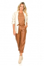 STUDIO AR BY ARMA |  Leather paperbag pants Clarie | camel  | Picture 8