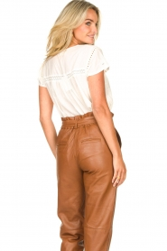 STUDIO AR BY ARMA |  Leather paperbag pants Clarie | camel  | Picture 7