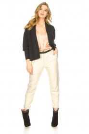 STUDIO AR BY ARMA |  Leather chino pants Nessa | natural  | Picture 3