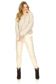 STUDIO AR BY ARMA |  Leather chino pants Nessa | natural  | Picture 5