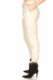 STUDIO AR BY ARMA |  Leather chino pants Nessa | natural  | Picture 7