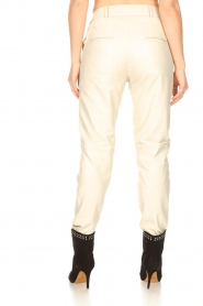 STUDIO AR BY ARMA |  Leather chino pants Nessa | natural  | Picture 9